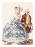 Lady with Her Husband Attending a Court Gala, Engraved by Dupin, Giclee Print by Pierre Thomas Le Clerc