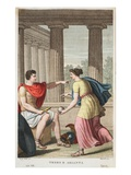 Theseus and Ariadne, Book VIII, Illustration from Ovid's Metamorphoses, Florence, 1832 Giclee Print by Luigi Ademollo