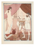 Sculpting a Statue, Illustration from 'The Works of Hippocrates', 1934 (Colour Litho) Giclee Print by Joseph Kuhn-Regnier