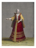 A Hungarian Woman, Plate 77 Reproduction proc&#233;d&#233; gicl&#233;e par Jean Baptiste Vanmour
