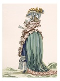 Back View of Lady's Dress, Engraved by Dupin, Plate No.189 Giclee Print by Francois Louis Joseph Watteau