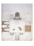 Design for a Bedroom, by Gillow and Company (W/C on Paper) Giclee Print by  English