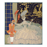 Punishing the Page (Colour Litho) Giclee Print by Georges Barbier