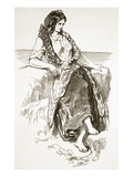 Girl of Iona, from 'The Illustrated London News', 1849 (Engraving) Giclee Print by Paul Gavarni