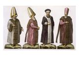 Grand Visir, Caim-Mecam, Reis-Efendi and Khodjakian, Plate 15 Giclee Print by  Italian