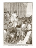 Pericles Delivering the Funeral Oration over the Athenians (Litho) Giclee Print by  English