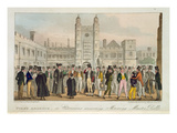 First Absence, or Etonians Answering Morning Master Roll, from 'The English Spy' Published 1824 Giclee Print by Isaac Robert Cruikshank
