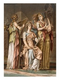 Chorus of Israelite Women, Costumes for 'Esther' by Jean Racine Giclee Print by Philippe Chery