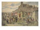 Hungarian Gypsies Outside Carcassonne Giclee Print by  French