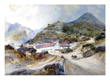 The Village of Angangueo, Mexico, 1883 (W/C on Paper) Giclee Print by Thomas Moran