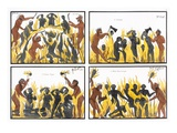 Four Scenes Depicting a Sacrificial Ceremony, from 'The History and Doctrine of Buddhism' Giclee Print by  English