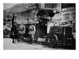 A Missing Londoner! an English M.E.T. Motor-'Bus in the Hands of the Germans and Put to Use by Them Giclee Print by  German photographer