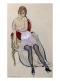 Lady in Underwear, 1917 (W/C) Giclee Print by Gerda Marie Frederike Wegener