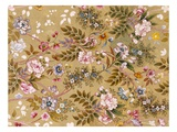 Flowered Textile Design, Possibly by William Kilburn (1745-1818) (Colour Litho) Giclee Print by  English