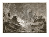 The Battle of Actium (Litho) Giclee Print by  English