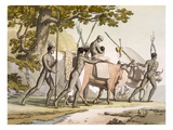 Vol II Pl.55 Korah Hottentots of the Cape on the Move, from 'Le Costume Ancien Et Moderne' Giclee Print by Sir John Barrow
