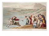 Europa, Illustration from Ovid's Metamorphoses, Florence, 1832 (Hand-Coloured Engraving) Giclee Print by Luigi Ademollo