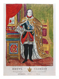 Tsar Peter the Great (1672-1725), 1845 (Colour Litho) Giclee Print by  Russian