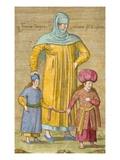 Woman Leading Her Children Giclée-Druck von Jean Baptiste Vanmour