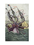 Giant Octopus, Illustration from 'L'Histoire Naturelle Generale Et Particuliere Des Mollusques' Giclee Print by  French