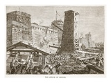 The Attack on Rhodes (Litho) Giclee Print by  English