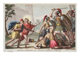 Paris Kills Achilles, Book XIII, Illustration from Ovid's Metamorphoses, Florence, 1832 Giclee Print by Luigi Ademollo