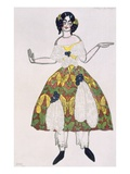 Costume for a Female Puppet, from La Boutique Fantastique, 1917 (Colour Litho) Giclee Print by Leon Bakst