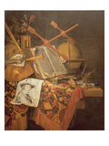 Vanitas (Oil on Canvas) Giclée-Druck von Vincent Laurensz van der Vinne