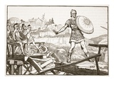 Horatius Cocles Defending the Bridge (Litho) Giclee Print by  English
