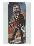 Caricature of Jean Jaures, after 1900 (Colour Litho) Giclee Print by Joseph Sirat