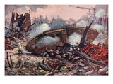 Captain A.M. Inglis Brings His Tank Forward over Very Difficult Ground Giclee Print by Alfred Pearse