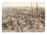 German Infantry Cross over Chemin Des Dames to Follow the Retreating Enemy, 27th May 1918 Giclee Print by  German photographer