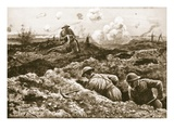 Acting-Sergeant J. Erskine Bandaging His Wounded Officer While Being Repeatedly Fired at (Litho) Giclee Print by Alfred Pearse
