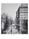 Broad Street, Looking Towards Wall Street, New York, 1893 (B/W Photo) Giclee Print by  American Photographer