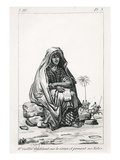 Rene Caille Pondering over the Koran and Taking Notes, from 'Journal D'Un Voyage a Tombouctou' Giclee Print by  French