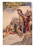 Alexander and Diogenes, Illustration from 'Plutarch's Lives for Boys and Girls' Giclee Print by William Rainey