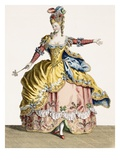 Costume for the Queen of the Sylphs in the Ballet of the Elements, Engraved by the Rene Gaillard Giclee Print by Jean Baptiste Martin