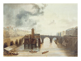 Pont Notre Dame, from 'Views on the Seine', Engraved by Thomas Sutherland (B.1785) Giclee Print by John Gendall