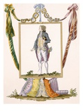 Gentleman in Light Clothes, Engraved by Duhamel, Plate No.231 Giclee Print by Francois Louis Joseph Watteau
