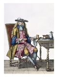 Gentleman's Elaborate Outfit, 1760 (Coloured Engraving) Giclee Print by  French