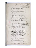 Manucript of 'Ariettes Oublies, Iii' from 'Romances Sans Parole', 1874 (Pen and Ink on Paper) Giclee Print by Paul Verlaine