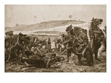 The Battle of Colenso: the Loss of Our Guns Giclee Print by Richard Caton Woodville