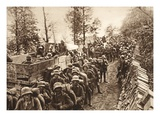 On the March to Cividale, 1917 (B/W Photo) Giclee Print by  German photographer