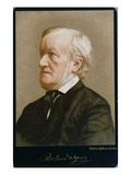 Portrait of Richard Wagner (1813-83) (Coloured Photo) Giclee Print by Wilhelm Hoffmann