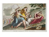 Pentheus Is Torn Apart by Bacchantes, Book III, Illustration from Ovid's Metamorphoses, Florence Giclee Print by Luigi Ademollo
