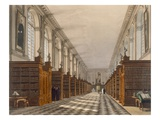 Interior of Trinity College Library, Cambridge, from 'The History of Cambridge' Giclee Print by Augustus Charles Pugin