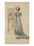 Court Dress, Fashion Plate from Ackermann's Repository of Arts (Coloured Engraving) Giclee Print by  English