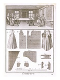 Fashion Workshop, from the 'Encyclopedie Des Sciences Et Metiers' by Denis Diderot (1713-84) Giclee Print by  French