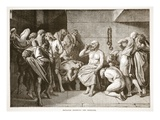 Socrates Drinking the Hemlock (Litho) Giclee Print by  English