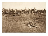 A German Field Howitzer Battery Cross over a Few Hours before Taking English Position at Bapaume Giclee Print by  German photographer